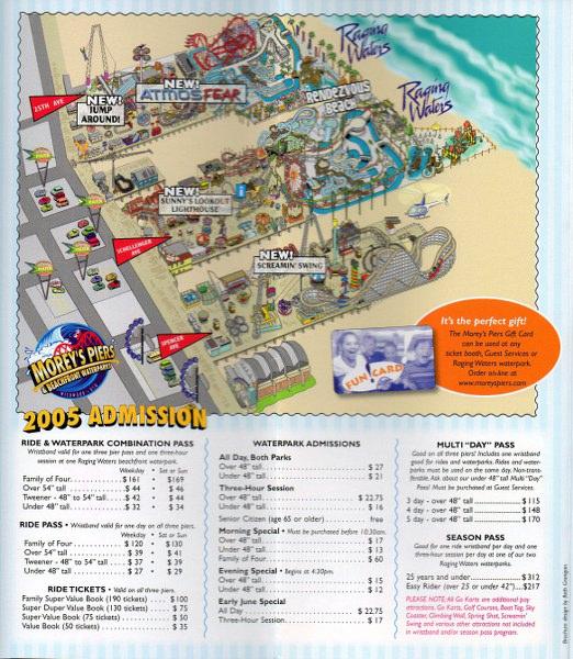 Morey's Piers - 2005 Park Brochure