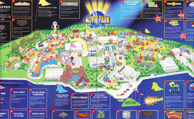 movie park germany 2008 park map. Black Bedroom Furniture Sets. Home Design Ideas