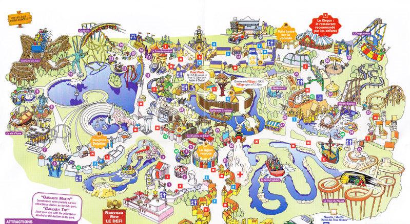 parc asterix 2008 park map. Black Bedroom Furniture Sets. Home Design Ideas