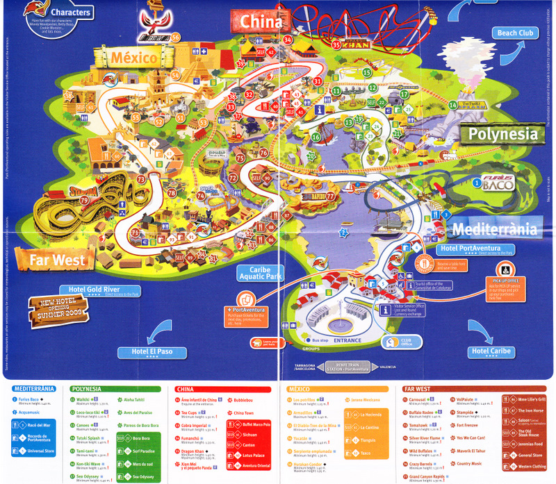 Portaventura 2007 Park Map