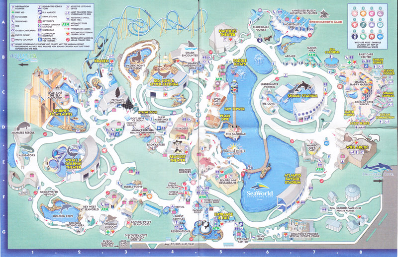 Le Seaworld Texas Map