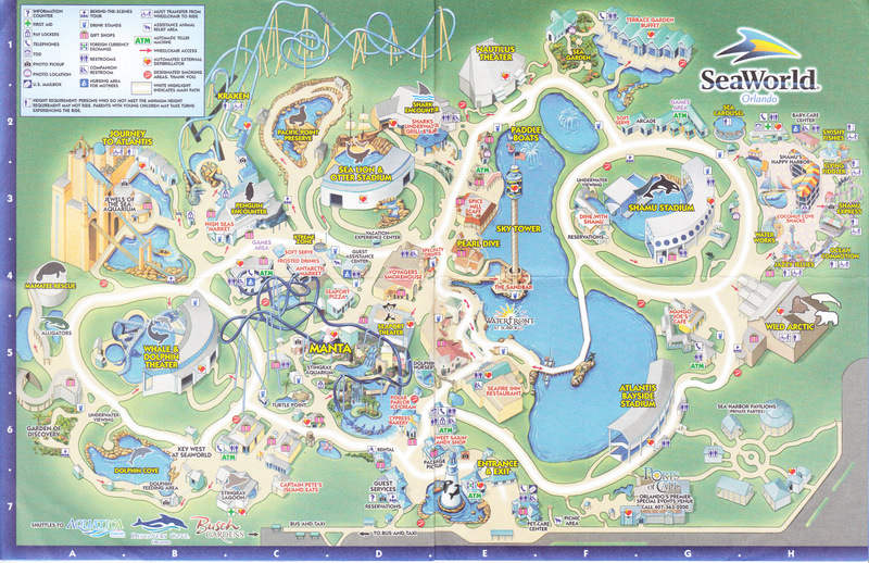 Seaworld Of Orlando 2011 Park Map