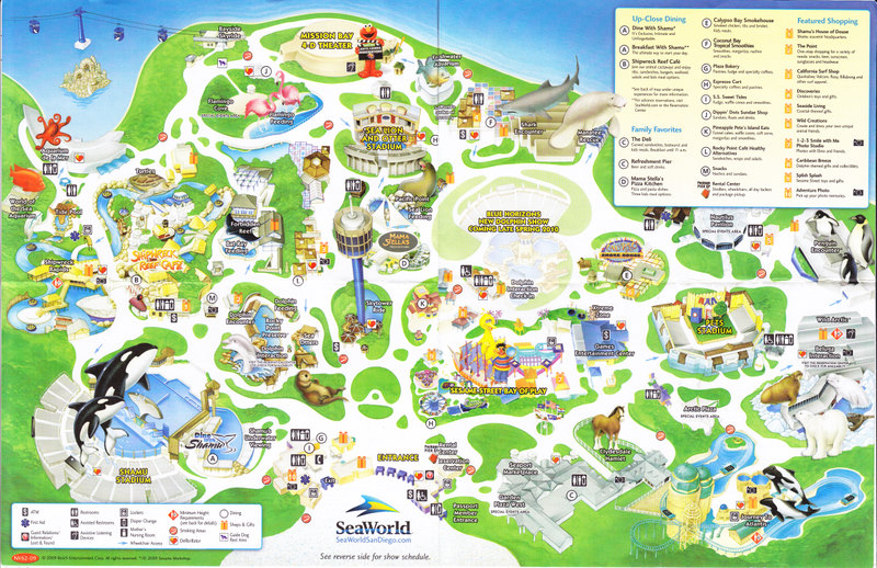 SeaWorld of San Diego - 2009 Park Map