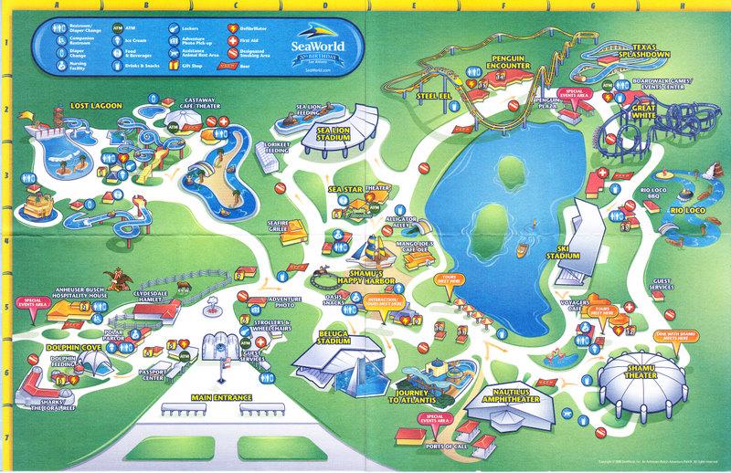 Seaworld Of Texas 2008 Park Map