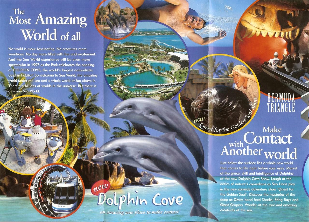 Sea World Australia 1997 Park Brochure