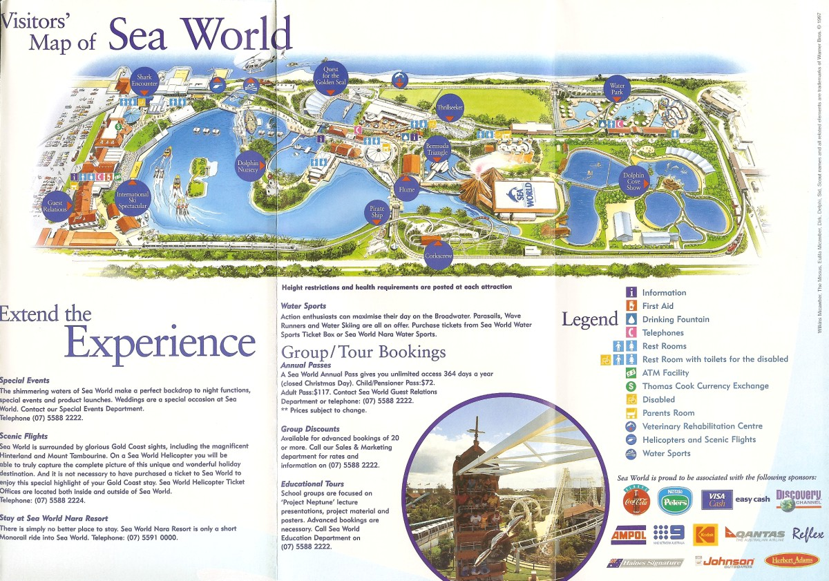 Sea world australia 1997 park brochure gumiabroncs Image collections