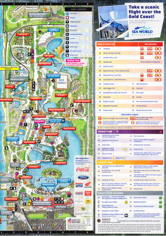 Sea world australia 2012 park map photo by ambebambe gumiabroncs Gallery