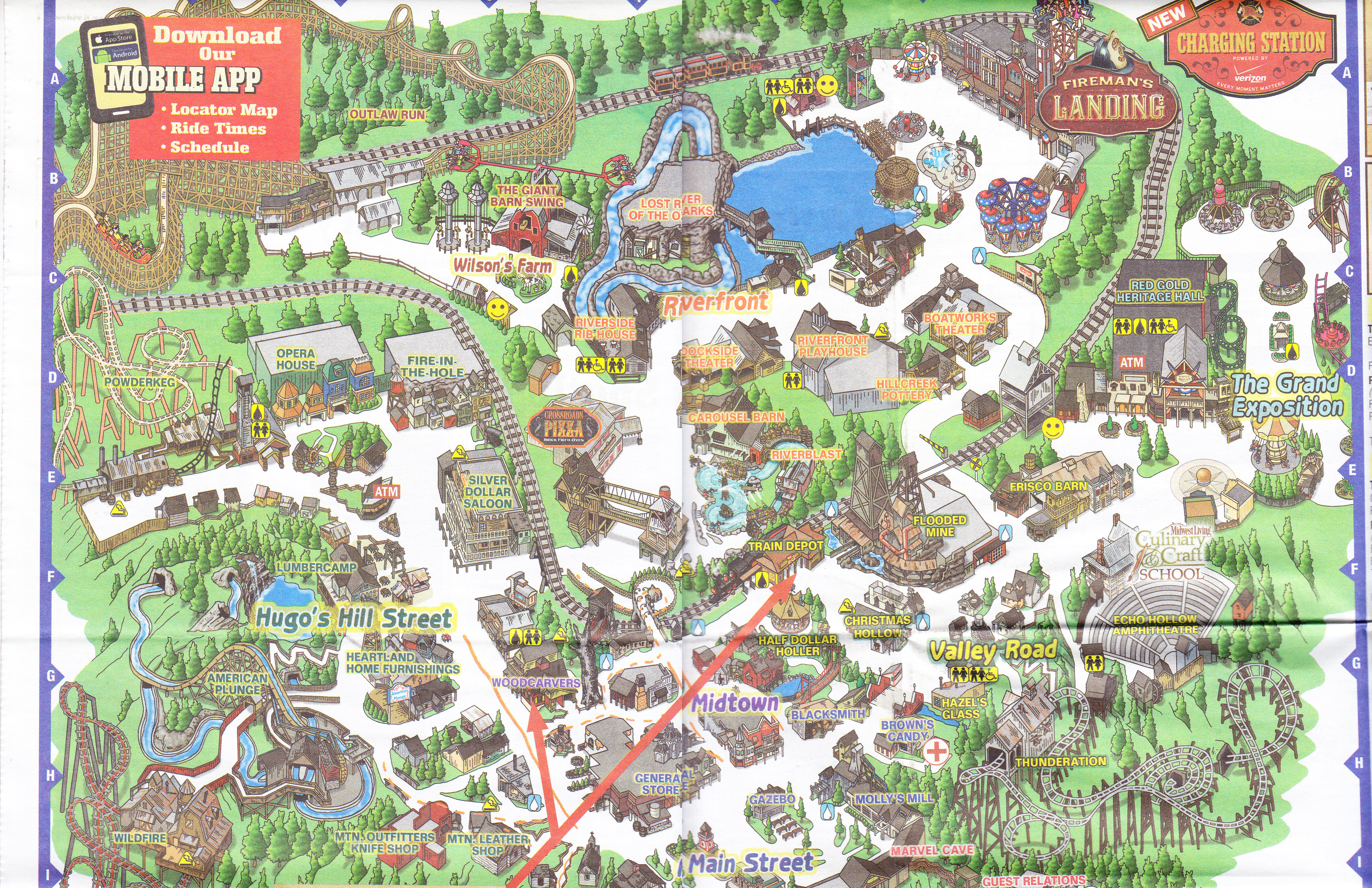Silver Dollar City   2015 Park Map