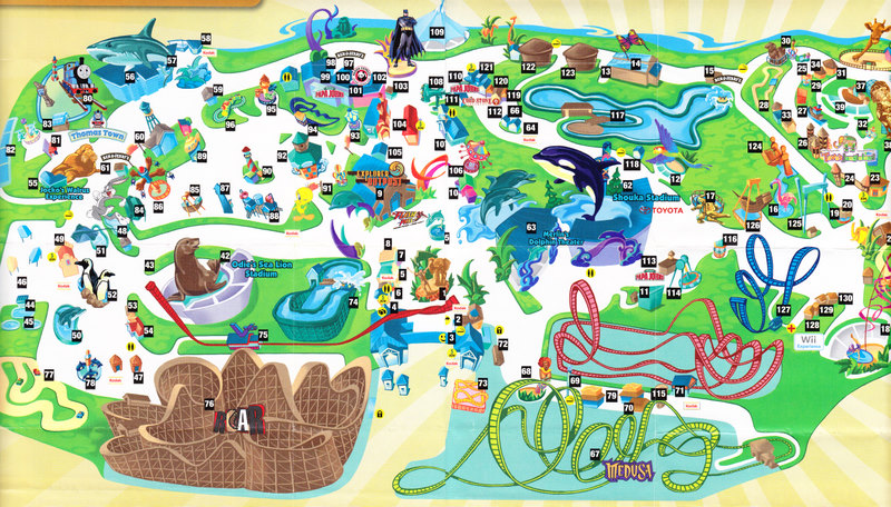 Six Flags Discovery Kingdom - 2007 Park Map