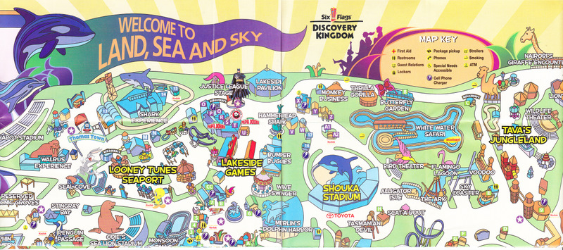 six flags discovery kingdom 2008 park map