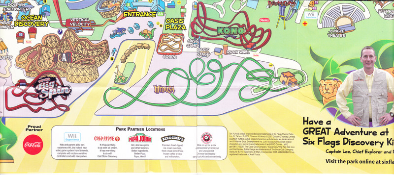 Six Flags Discovery Kingdom - 2008 Park Map