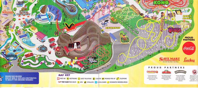 six flags discovery kingdom 2010 park map