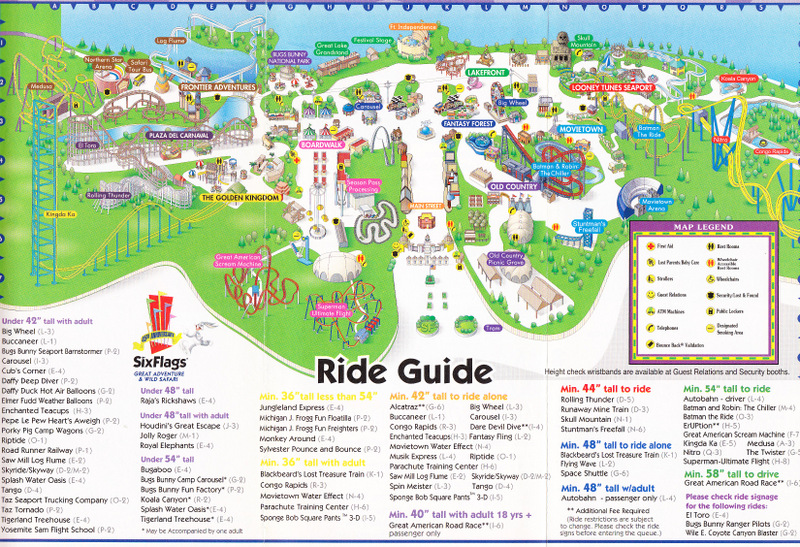 six flags great adventure 2006 park map