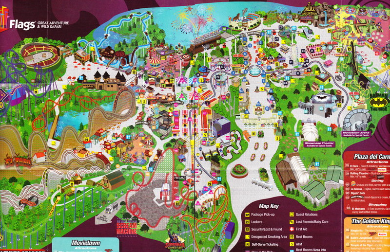 six flags great adventure 2010 park map