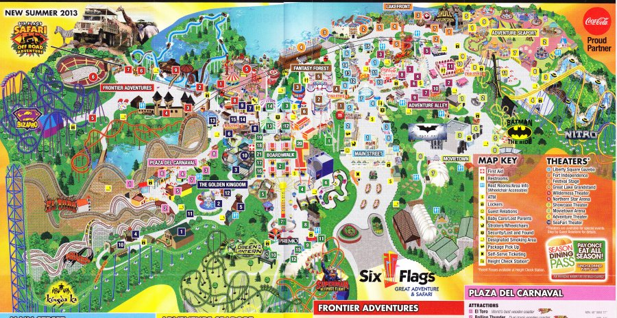 Six Flags Great Adventure 2013 Park Map