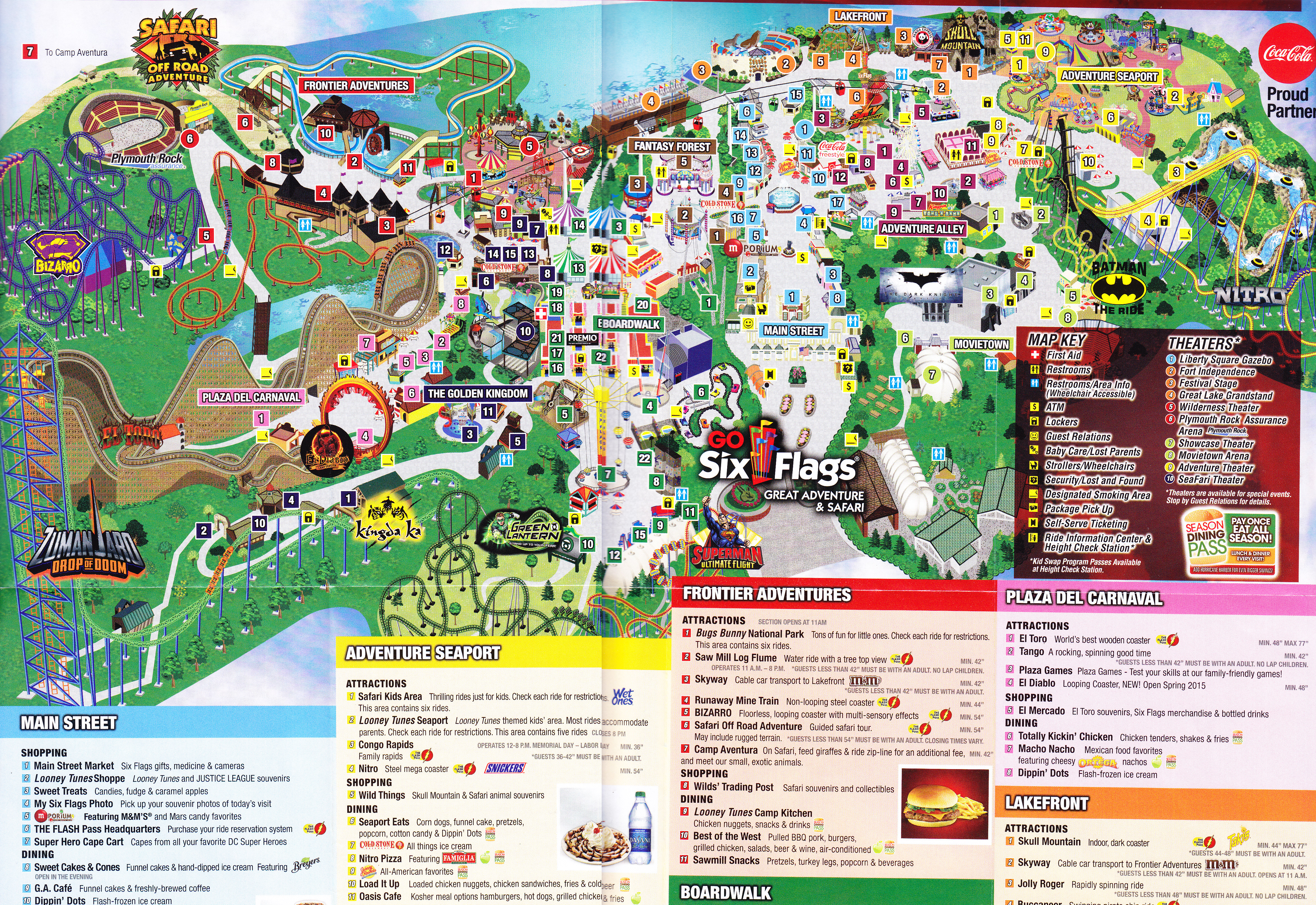 Six flags great adventure 2015 park map photo by larrygator gumiabroncs Images