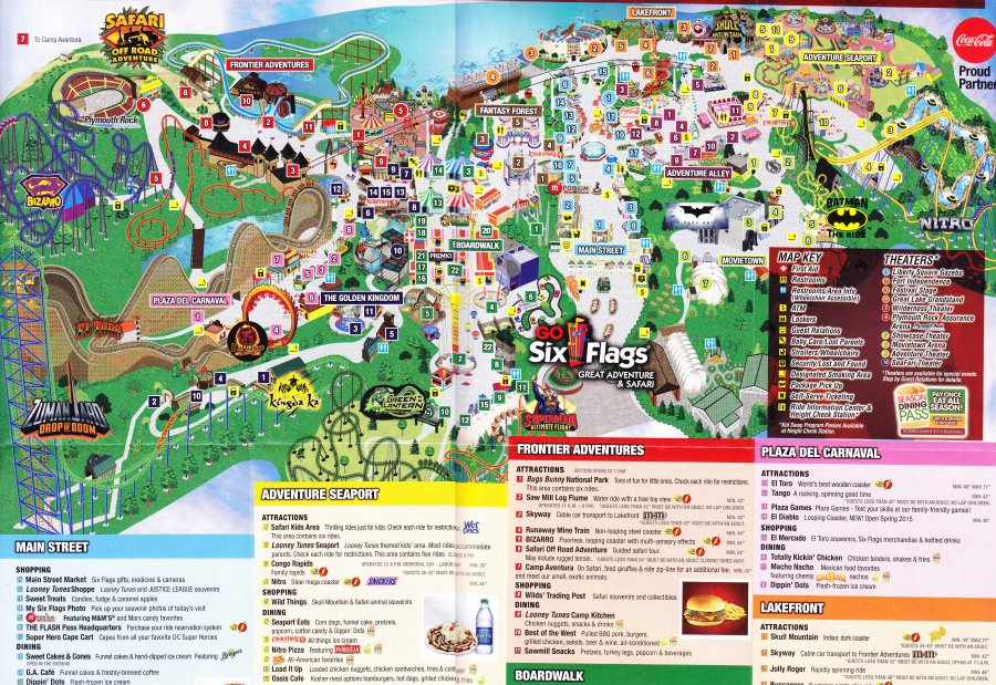 Six Flags Map Related Keywords & Suggestions - Six Flags Map Long Tail ...