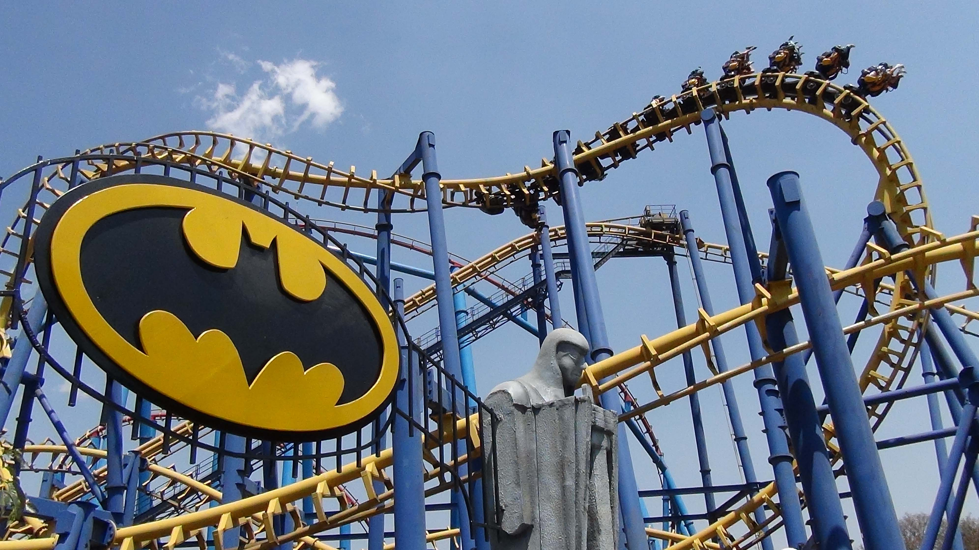 Image result for batman ride six flags