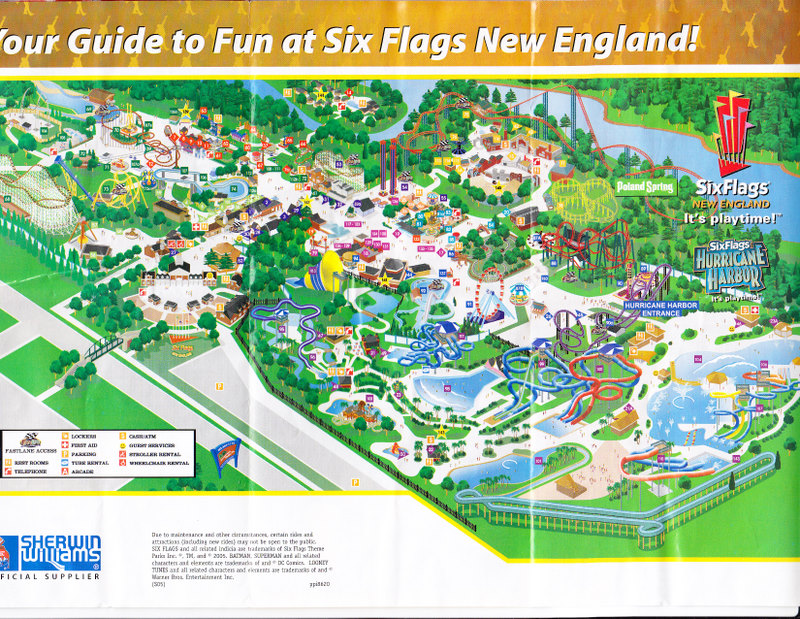 Six flags new england 2005 park map gumiabroncs Choice Image