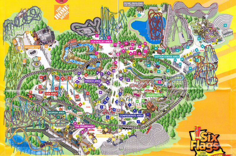 Six Flags Over Georgia Park Map ~ CINEMERGENTE