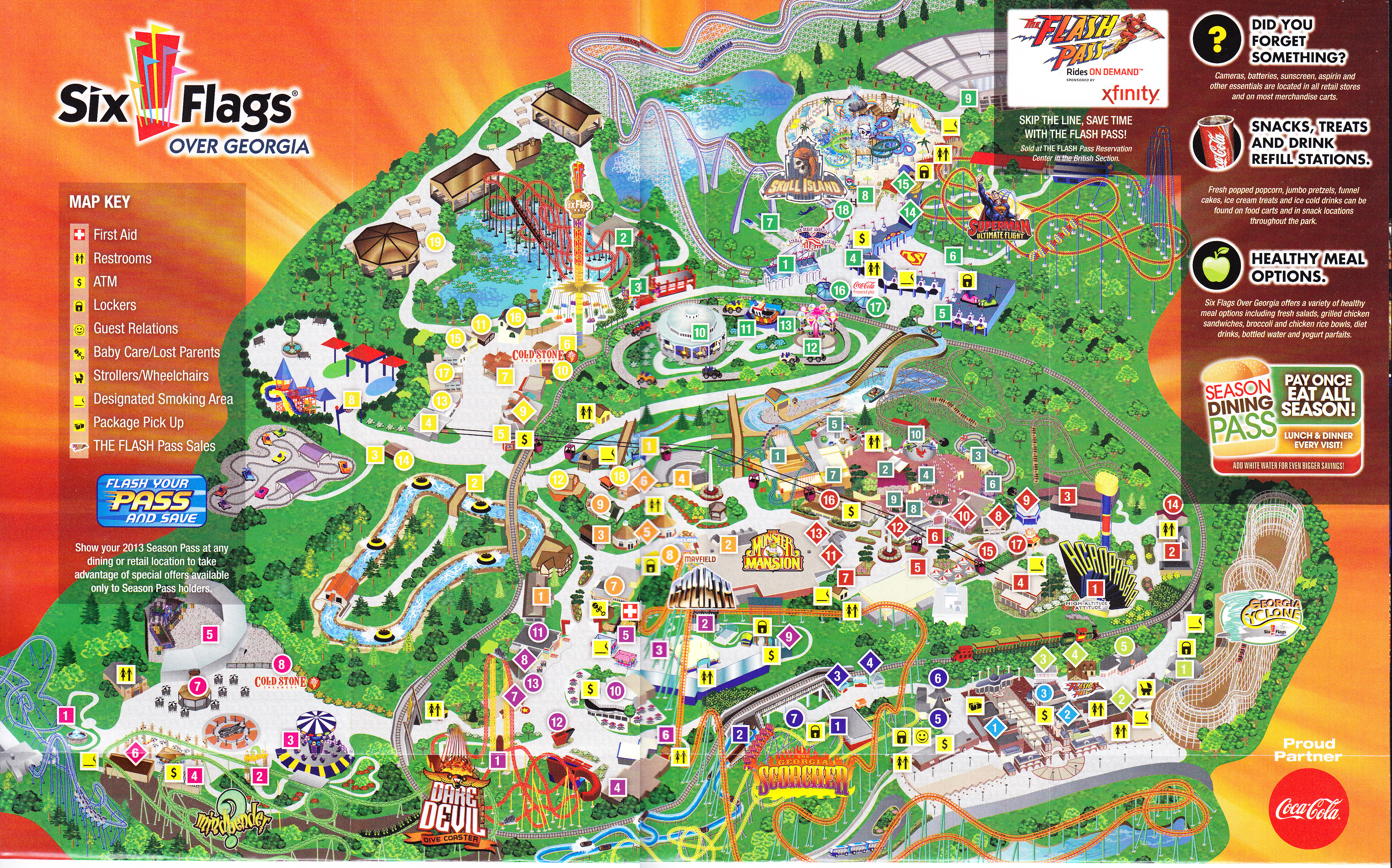 Six Flags Map Six Flags Over Georgia Map ~ CINEMERGENTE Six Flags Map