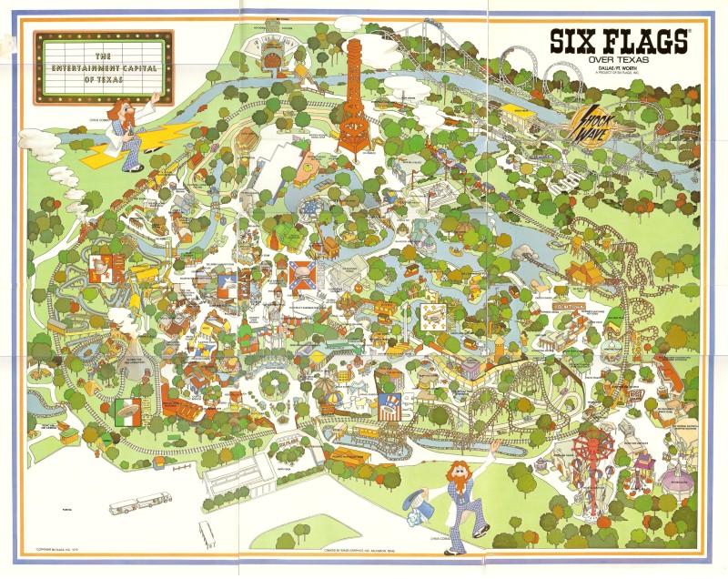 Six Flags Over Texas  Shane39s Amusement Attic  198039s