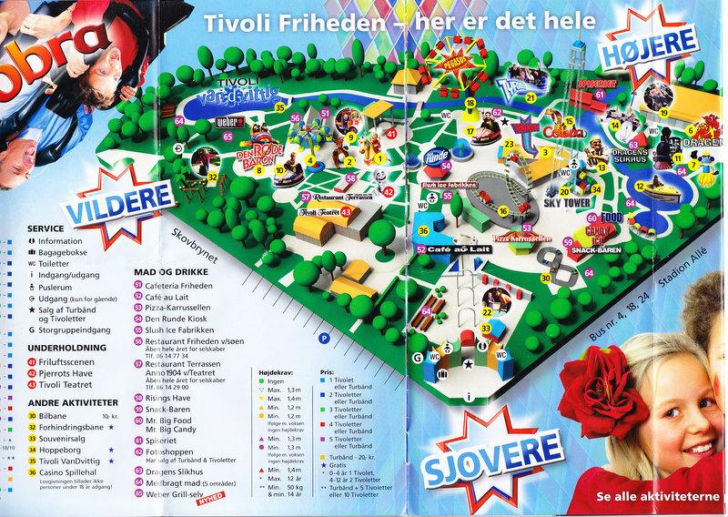 Tivoli Friheden 2009 Park Map