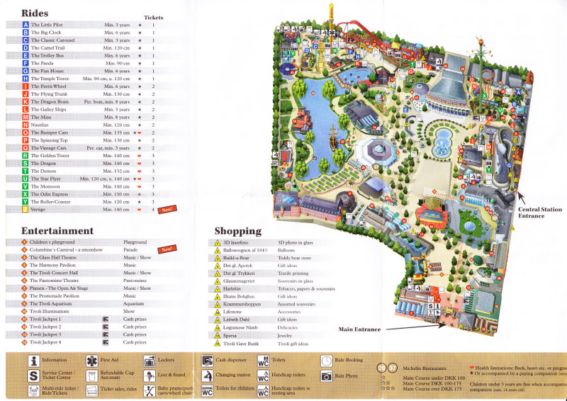 Map Of Tivoli Gardens Copenhagen