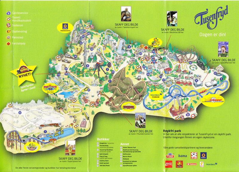 tusenfryd kart TusenFryd   2009 Park Map tusenfryd kart