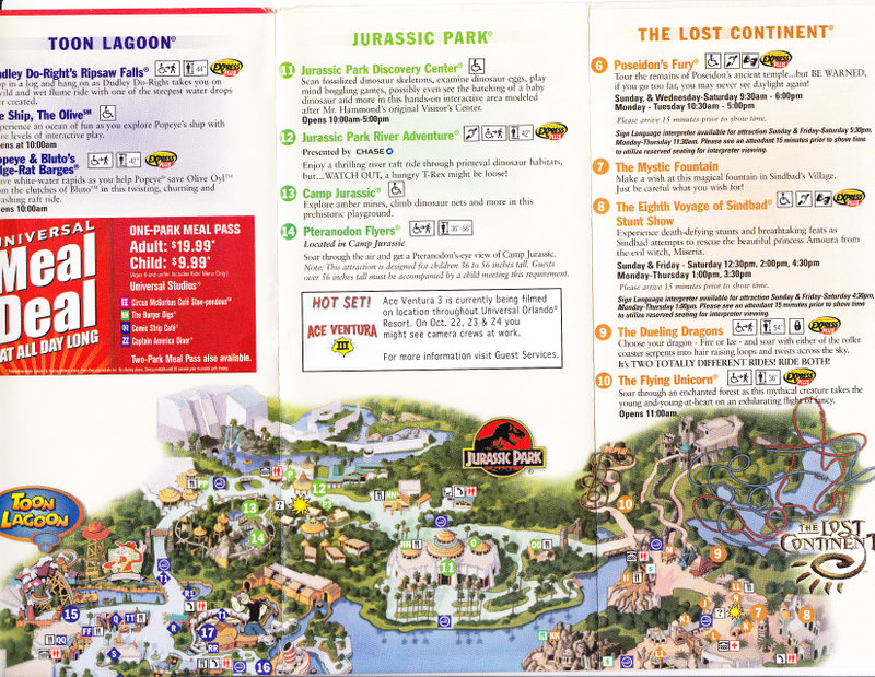 Universal Studios Islands of Adventure 2007 Park Map