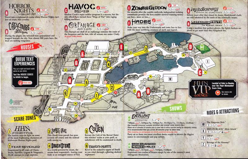 Universal Studios Orlando 2010 Park Map Hhn