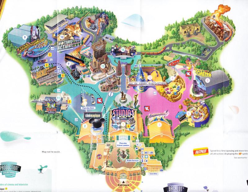 walt disney studios park 2008 park map