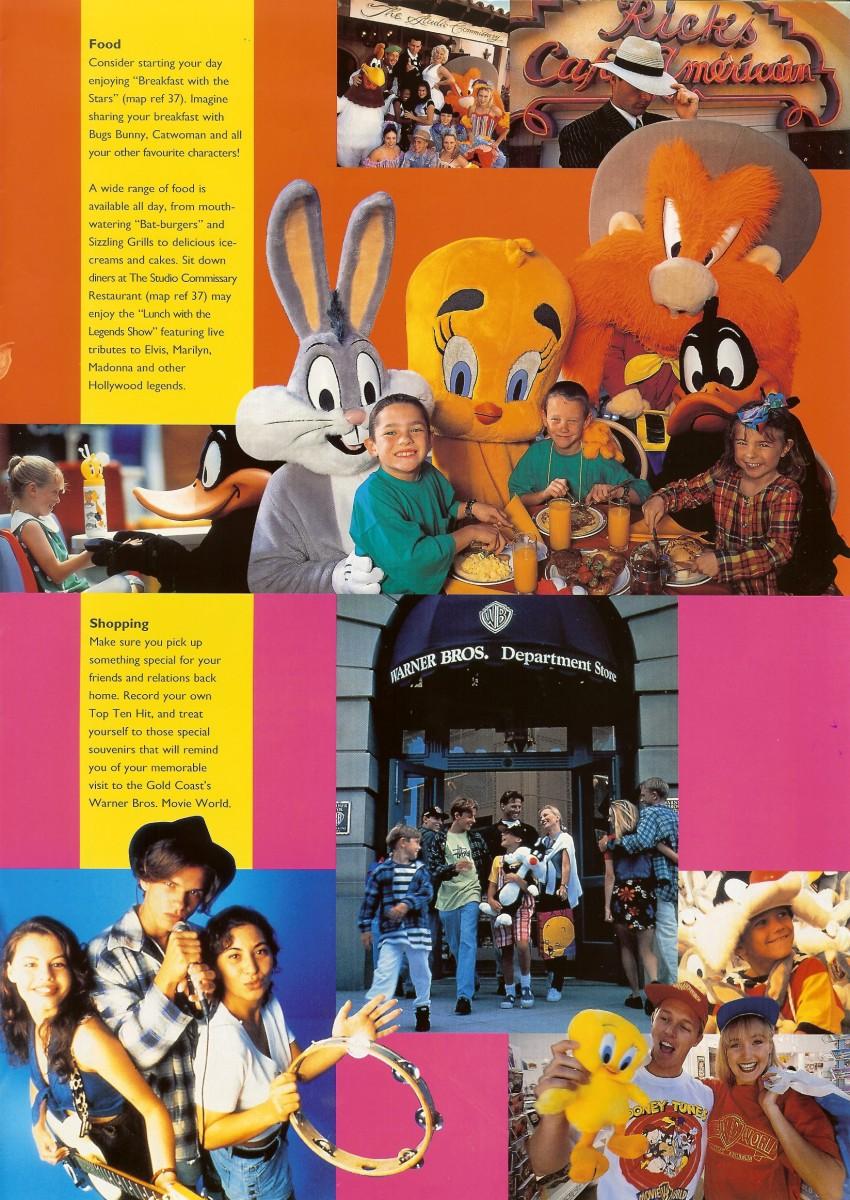 Warner Bros Movie World 1996 Park Brochure