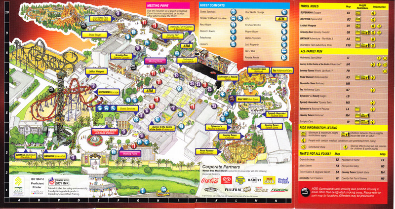 Water Country USA Park Map - Usa country map