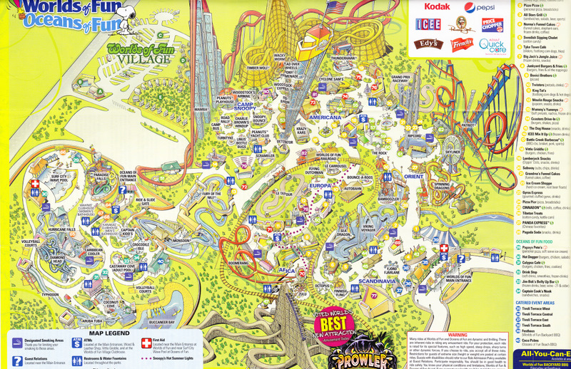 Worlds of Fun 2010 Park Map