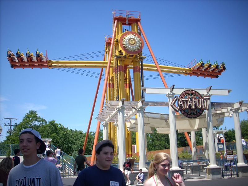 six flags new england rides. at Six Flags New England !