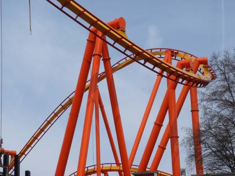 Six Flags Magic Mountain Tatsu Roller Coaster Construction Photos