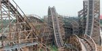 China's Fireball Wood Coaster Video!