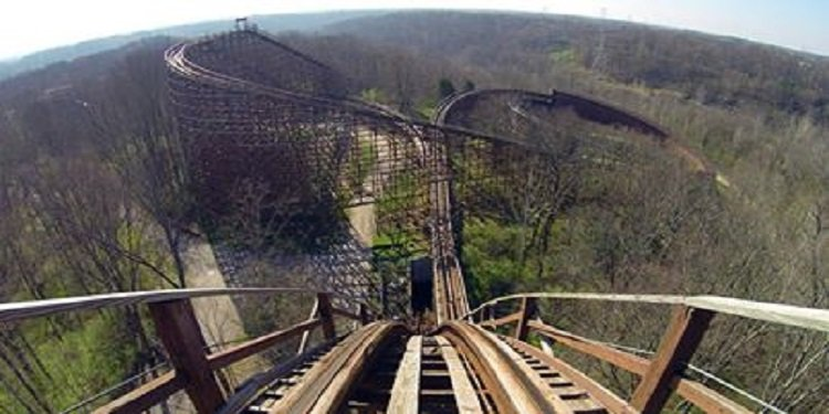 Beast Roller Coaster POV Video!