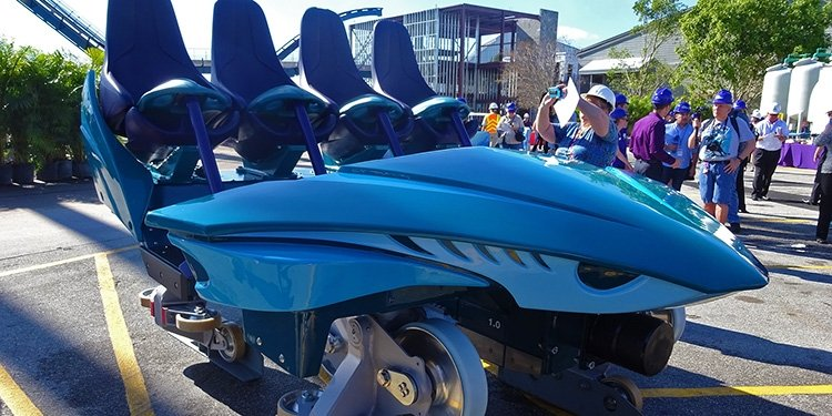 SeaWorld Orlando Unveils Mako's Trains!