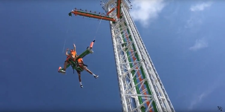 POV Video of Super Sling Shot Ride!