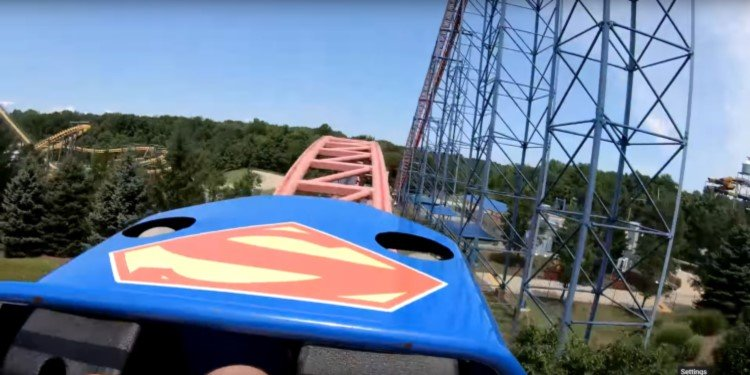 POV Video of Superman: Ride of Steel!