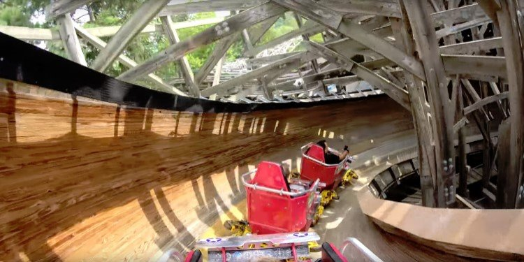 POV Video of  Flying Turns at Knoebels!